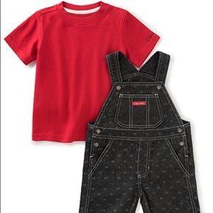 Calvin Klein Baby Boys 2 Piece Shortalls